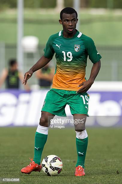 Digbo Habib Maiga of Cote d'Ivoire U21 during the Festival International Espoirs de Football tournament match between Morocco U21 and Cote d'Ivoire...