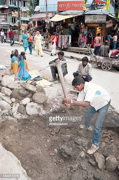 Digging in Manali India