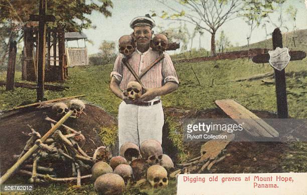 Digging old graves at Mount Hope, Panama
