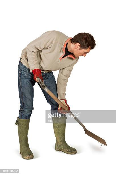 digging with garden spade - digging stock pictures, royalty-free photos & images