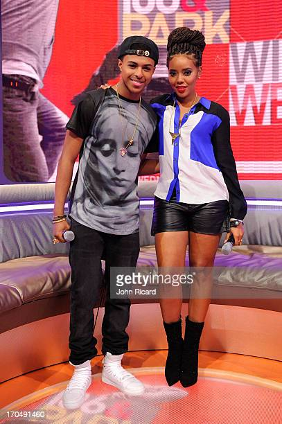 Diggy Simmons and Angela Simmons at '106 Park' at BET Studios on June 12 2013 in New York City