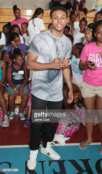 Diggy Simmons attends the GirlTalk Takeover Hosted By Angela Simmons at Harlem Boys and Girls Club on July 29 2015 in New York City