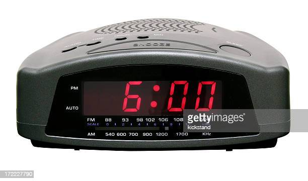 Digital alarm clock with clipping path