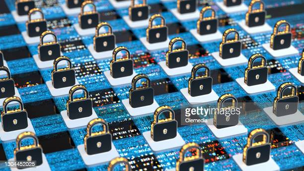 digital background security systems and data protection - blockchain stock pictures, royalty-free photos & images