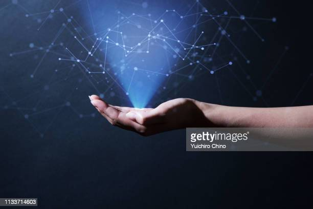 digital big data - hologram stock pictures, royalty-free photos & images