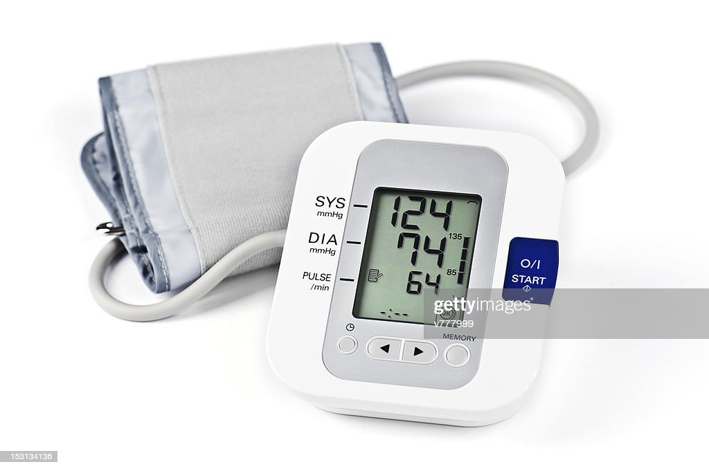 Digital Blood Pressure Monitor High-Res Stock Photo - Getty Images