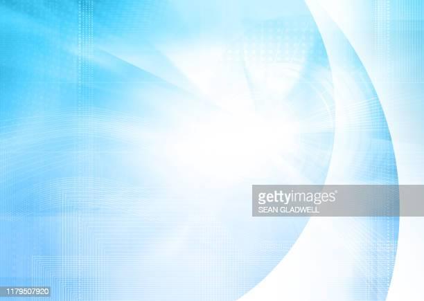 digital blue cyber background - 紙製備品 ストックフォトと画像