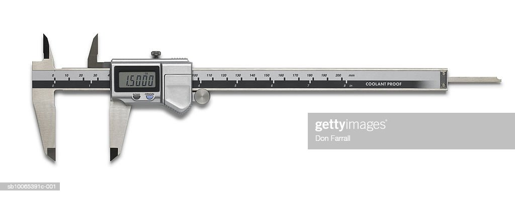 Digital caliper on white background : Foto stock