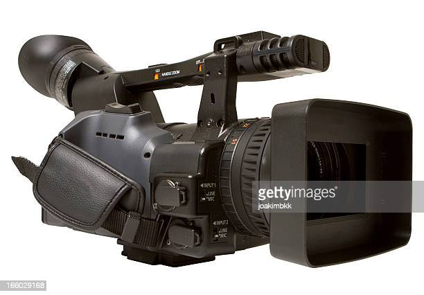 digital camcorder isolated on white - television camera stock pictures, royalty-free photos & images