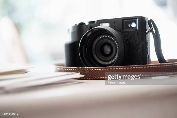 Digital camera on desk