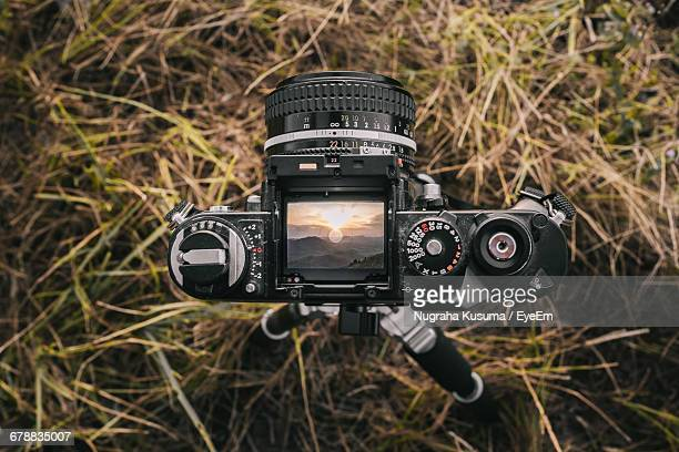 Digital Camera Photographing Landscape