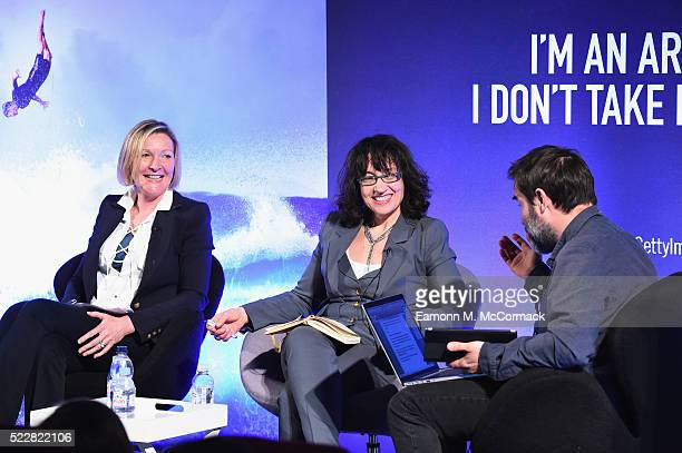 Digital Cinema Media Karen Stacey Chief Strategy Officer MediaCom Sue Unerman and Comedian Adam Buxton during The Great Advertising Jargon Detox...