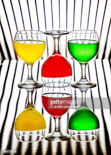 Digital Composite Image Of Drinks On Glass