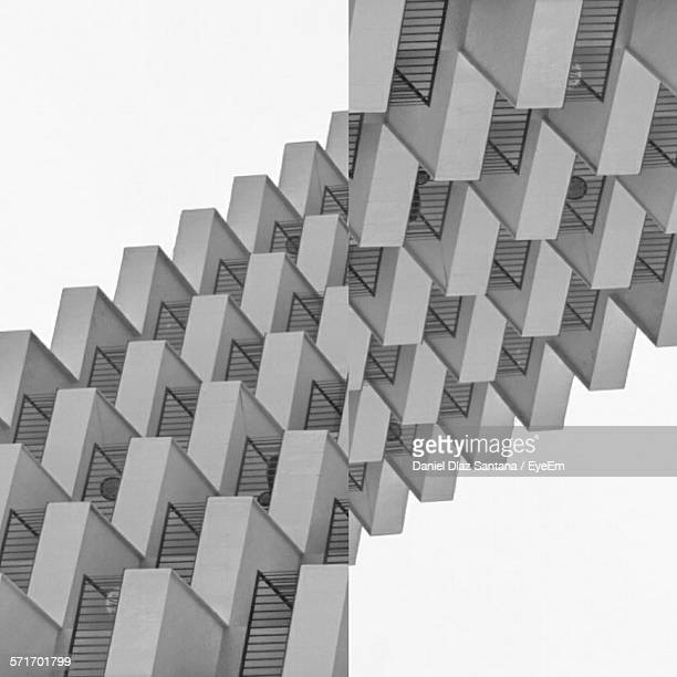 Digital Composite Image Of Geometric Shapes Against White Background