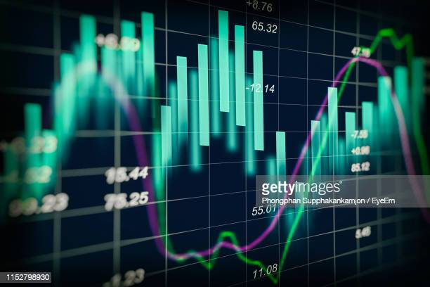 digital composite image of graph and financial figures - stock market data stock pictures, royalty-free photos & images