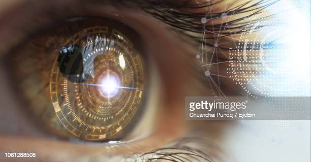 digital composite image of human eye - eyelid stock photos and pictures
