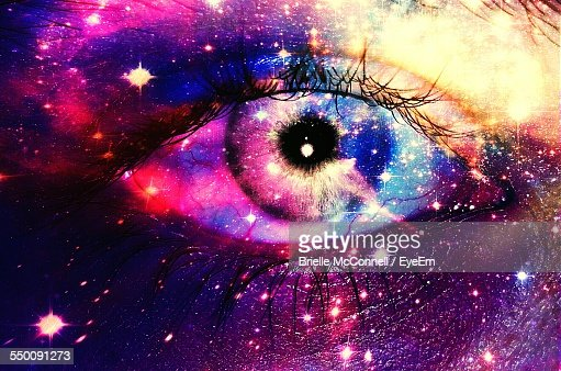 Digital Composite Image Of Human Eye