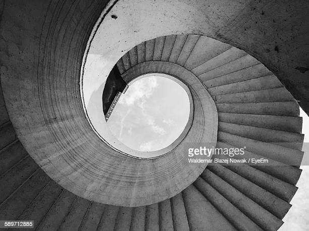Digital Composite Image Of Spiral Staircase