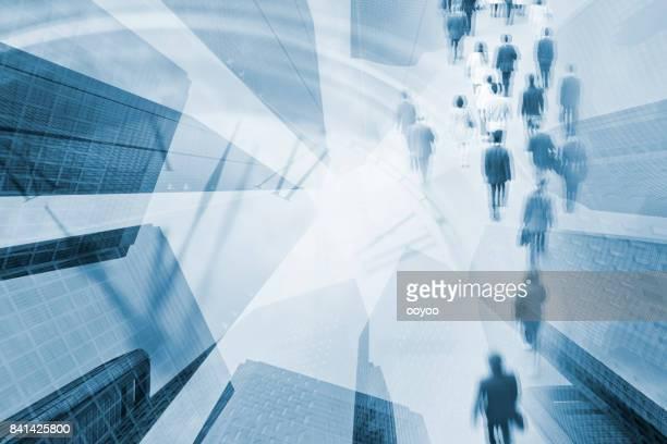 Digital sammansatt bild av Tokyo verksamheten scenen