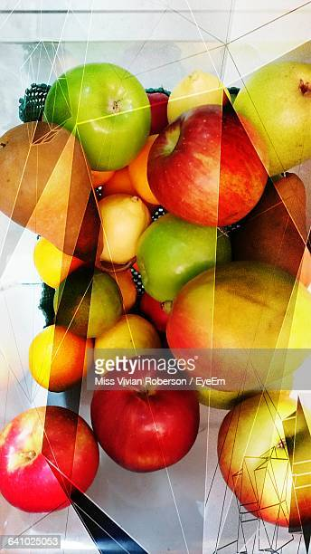 digital composite image of various fruits - miss pears stock pictures, royalty-free photos & images