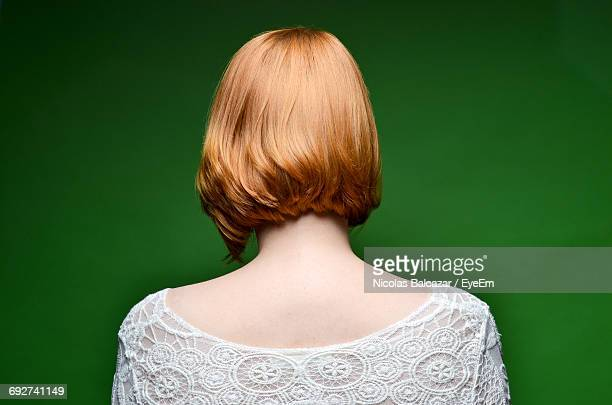 digital composite image of woman - mid length hair stock pictures, royalty-free photos & images