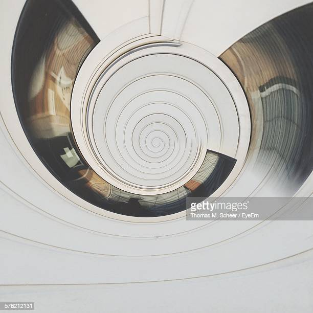 Digital Composite Of Abstract Spiral White Pattern