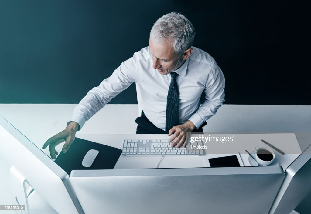 Digital connections in the corporate world : Stock Photo