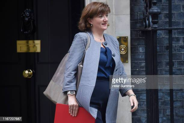 Digital Culture Media and Sport Secretary Nicky Morgan leaves 10 Downing Street following a cabinet meeting on September 10 2019 in London England...