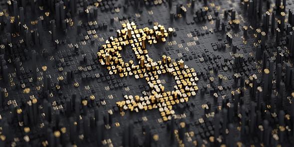 Digital Currency. Dollar 674952306