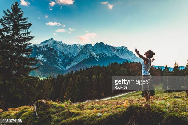 digital detox in garmisch-partenkirchen, germany - wellness stock pictures, royalty-free photos & images