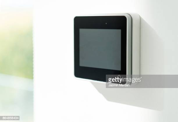 Digital device high tech touch screen with icon for smart home functions