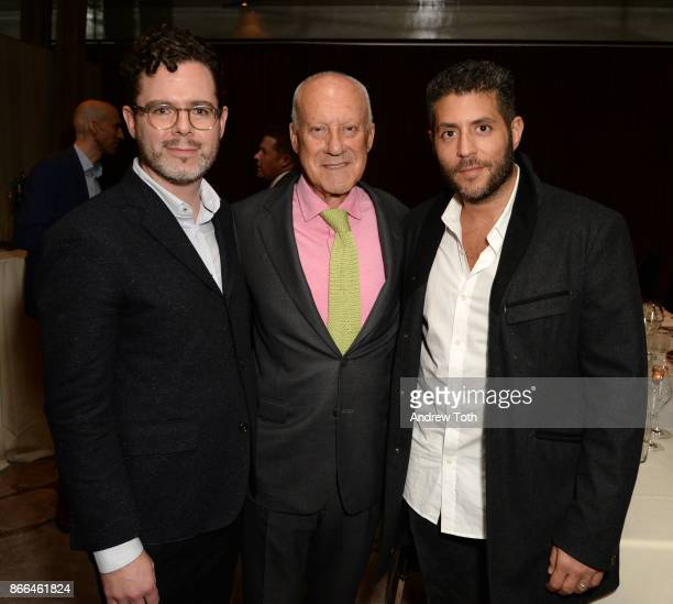 Digital Director of Surface Magazine Bill Hanley architect Lord Norman Foster and CEO of Surface Magazine Marc Lotenberg attend Surface celebrates...
