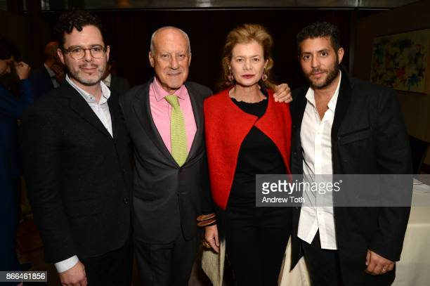 Digital Director of Surface Magazine Bill Hanley architect Lord Norman Foster Lady Foster and CEO of Surface Magazine Marc Lotenberg attend Surface...