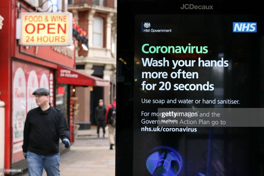 Coronavirus Fears In London : News Photo