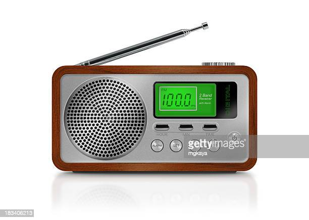digital drawing of a portable radio on white background - radio stock pictures, royalty-free photos & images