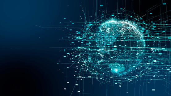 Digital earth 5G AI technology 1132986308