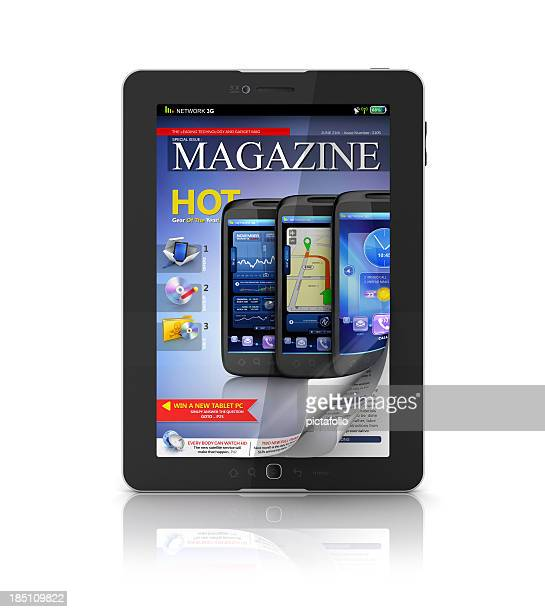 digital e-magazine on tablet