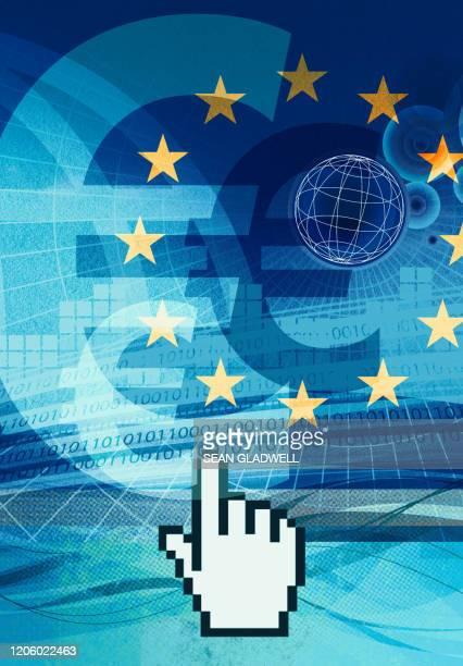 digital euro - european union stock pictures, royalty-free photos & images