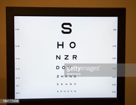Digital Eye Chart Stock Photo Getty Images