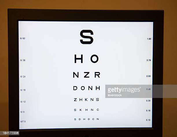 Sight Test Chart Stock Photos And Pictures Getty Images