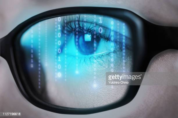 digital eye - binary code stock pictures, royalty-free photos & images