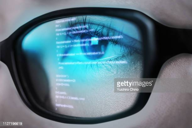 digital eye - eyesight stock photos and pictures
