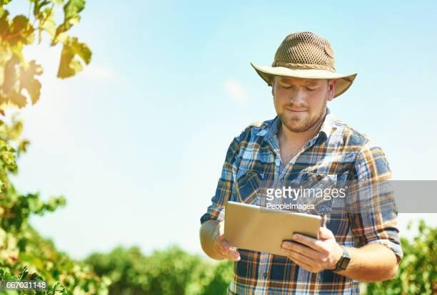 デジタルの農業は世界的な傾向 - スマート農業 ストックフォトと画像