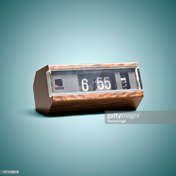 Digital flip clock. Time Vintage Style Art Background