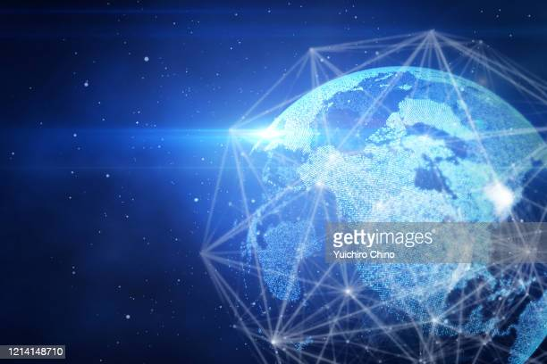 digital generated image of global connection - big tech stock pictures, royalty-free photos & images