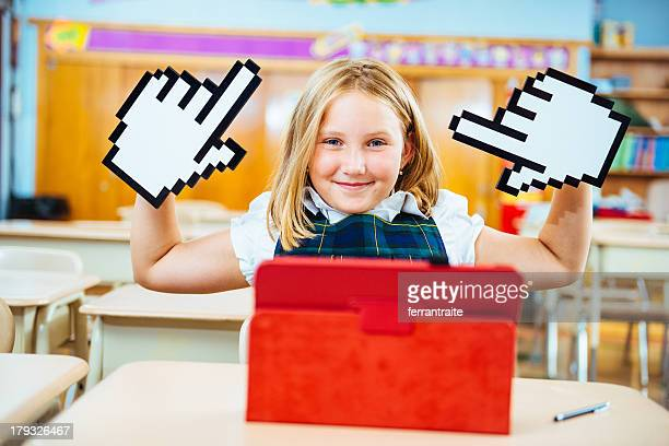 digital generation at school - cursor stock pictures, royalty-free photos & images