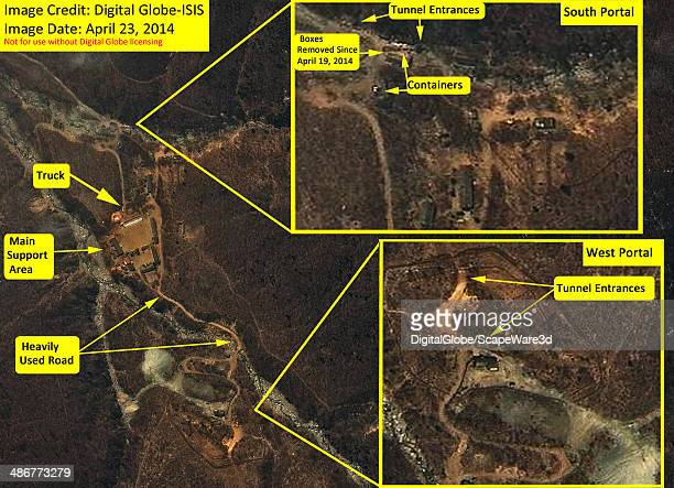 Digital Globe imagery showing North Koreas Punggyeri nuclear test site on April 23 2014 Analysis by ISIS