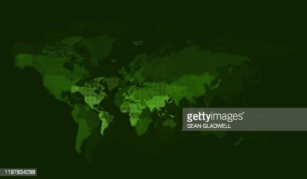 digital green world map - globe stock pictures, royalty-free photos & images