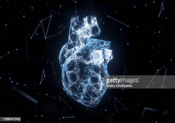 digital heart - coração imagens e fotografias de stock
