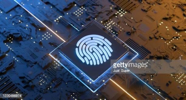 digital identity scanner cybersécurité - identity photos et images de collection